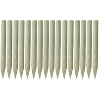vidaXL Špičaté plotové sloupky 16 ks impregnované dřevo 100 cm