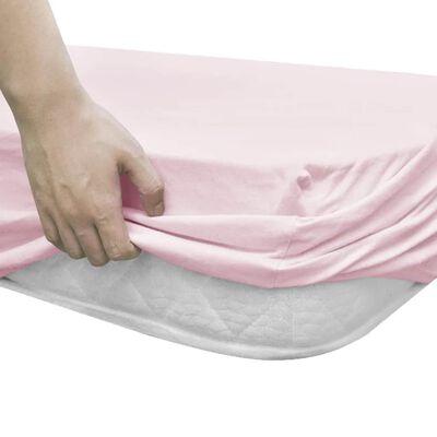 vidaXL Napínací prostěradla do kolébky 4 ks jersey 40 x 80 cm růžová