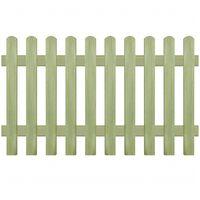 vidaXL Laťkový plot impregnovaná borovice 170 x 100 cm 6/9 cm