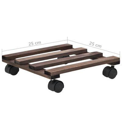 vidaXL Vozíky pod květináče z cedrového dřeva 4 ks 25 x 25 cm