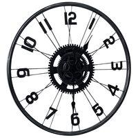 vidaXL Nástěnné hodiny černé 60 cm kov