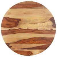 vidaXL Stolní deska masivní sheeshamové dřevo kulatá 25–27 mm 80 cm
