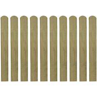 vidaXL 30 ks impregnované plotovky dřevo 80 cm