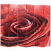 vidaXL Skládací paraván 228 x 170 cm růže červený