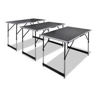 vidaXL Tapetovací stůl 3 ks skládací výškově nastavitelný
