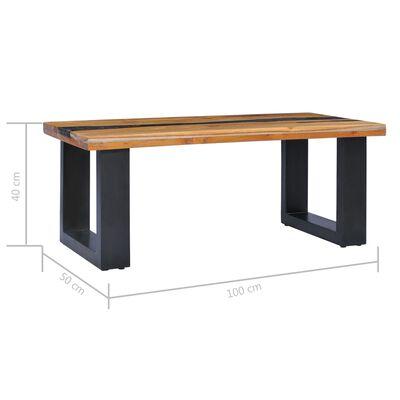 vidaXL Konferenční stolek 100 x 50 x 40 cm masivní teak a polyresin