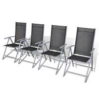 vidaXL Skládací zahradní židle 4 ks hliníkové