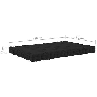 vidaXL Podušky na nábytek z palet 3 ks bavlna černé
