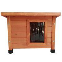 @Pet Venkovní kočičí domeček dřevěný hnědý