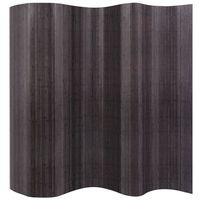 vidaXL Paraván bambusový šedý 250 x 165 cm