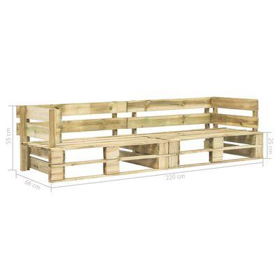 vidaXL Zahradní 2místná sedačka z palet zelená dřevo