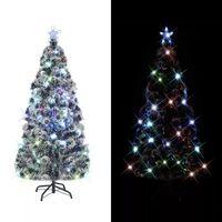 vidaXL Umělý vánoční stromek se stojanem a LED 180 cm optické vlákno