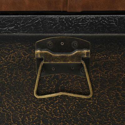 vidaXL Úložná lavice z masivního dřeva a umělé kůže 80,5 x 41 x 50 cm