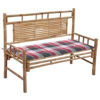 vidaXL Zahradní lavice s poduškou 120 cm bambus