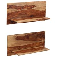 vidaXL Nástěnné police 2 ks 58 x 26 x 20 cm masivní sheeshamové dřevo