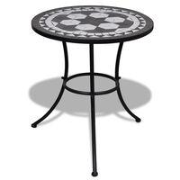 vidaXL Bistro stolek černý a bílý 60 cm mozaika