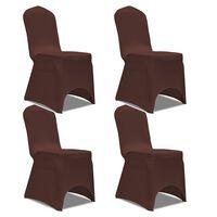 vidaXL Strečové potahy na židle 4 ks hnědé