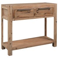 vidaXL Konzolový stolek 82 x 33 x 73 cm masivní akáciové dřevo