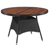 vidaXL Zahradní stůl 115 x 74 cm polyratan a masivní akáciové dřevo