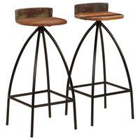vidaXL Barové stoličky 2 ks masivní recyklované dřevo