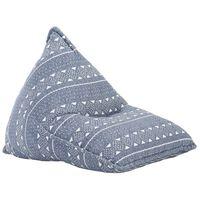 vidaXL Sedací vak indigový textil patchwork