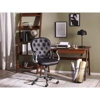 Černá Ekologická Kožená Kancelářská Židle Princess