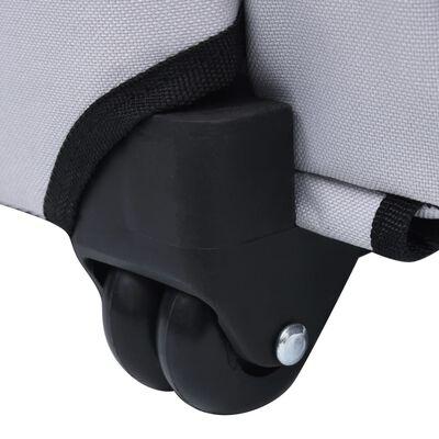 vidaXL Víceúčelová skládací přepravka pro mazlíčky šedá