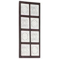 vidaXL Ručně vyřezávaný nástěnný panel MDF 40x80x1,5 cm hnědý a bílý