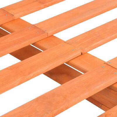 vidaXL Rám postele z palet hnědý masivní borovice 200 x 200 cm