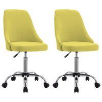 vidaXL Pojízdné kancelářské židle 2 ks textil žluté