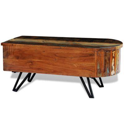 vidaXL Konferenční stolek s železnými nohami masivní recyklované dřevo