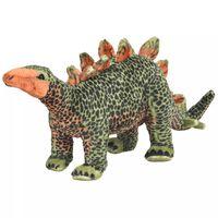 vidaXL Stojící plyšová hračka, dinosaurus stegosaurus, zelený, XXL