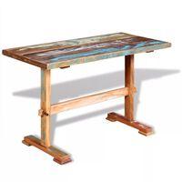 vidaXL Jídelní stůl s trnoží masivní recyklované dřevo 120x58x78 cm