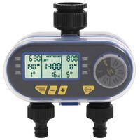 vidaXL Automatické zavlažovací hodiny s duálním výstupem