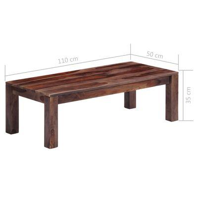 vidaXL Konferenční stolek šedý 110 x 50 x 35 cm masivní sheesham