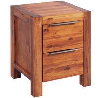 vidaXL Noční stolek masivní akáciové dřevo hnědé 45x42x58 cm