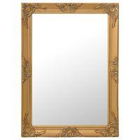 vidaXL Nástěnné zrcadlo barokní styl 60 x 80 cm zlaté