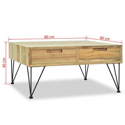 vidaXL Konferenční stolek, masivní teak, 80x80x40 cm