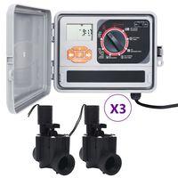 vidaXL Zavlažovací počítač se 6 elektromagnetickými ventily