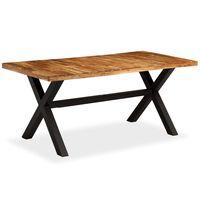 vidaXL Jídelní stůl z masivního dřeva akácie a mangovníku 180x90x76 cm