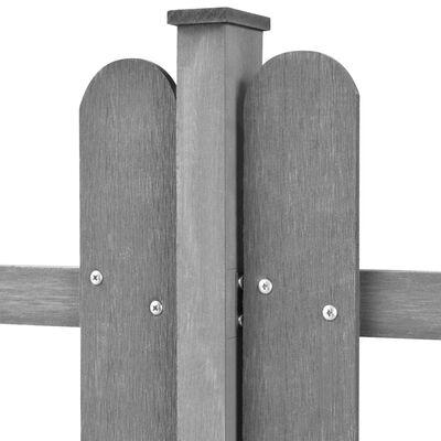vidaXL Laťkový plot se sloupky 3 ks WPC 600 x 100 cm