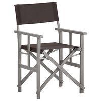 vidaXL Režisérská židle masivní akáciové dřevo