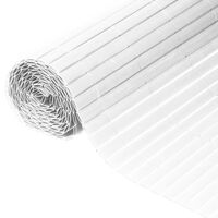 Nature Oboustranná zahradní clona PVC 1 x 3 m bílá
