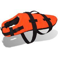 vidaXL Plovací záchranná vesta pro psa S oranžová