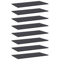 vidaXL Přídavné police 8 ks šedé 80 x 40 x 1,5 cm dřevotříska