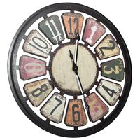 321464 vidaXL Wall Clock Multicolour 80 cm MDF