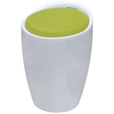 vidaXL Stolička bílá a zelená umělá kůže