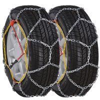 2 ks Sněhové řetězy na pneumatiky aut, 12 mm KN 100