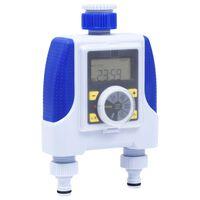 vidaXL Elektronické zavlažovací hodiny dvojitý výstup a zpoždění deště