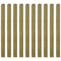 vidaXL 30 ks impregnované plotovky dřevo 120 cm